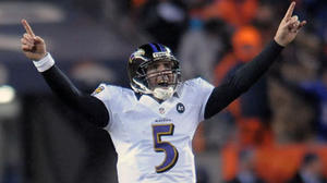 Watch Ravens' Joe Flacco, Jacoby Jones force OT with 70-yard TD