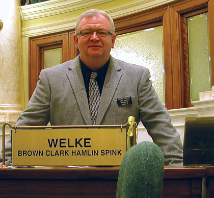 Chuck Welke started his first  legislative session last week. American News Photo by Bob Mercer