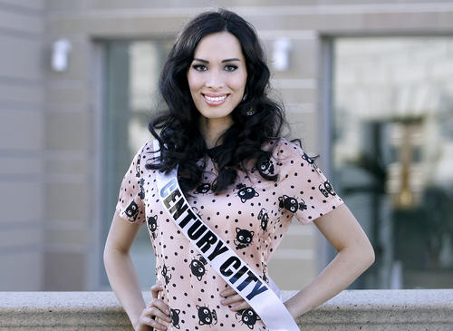 Kylan-Arianna Wenzel, 26 of Century City, the first transgendered contestant in any Miss USA pageant, just prior to the first day of the Miss California USA 2013 pageant at the Pasadena Convention Center in Pasadena on Saturday, January 12, 2013.