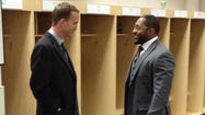 Peyton Manning congratulates Ray Lewis after Ravens' win