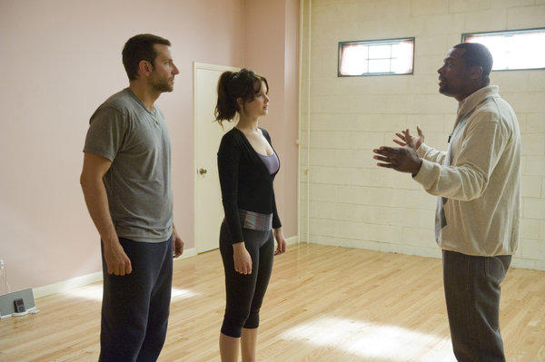 "Bradley Cooper, Jennifer Lawrence and Chris Tucker in ""Silver Linings Playbook"""