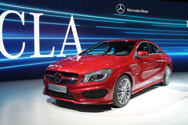 The 2014 Mercedes-Benz CLA250 will be the first front-wheel-drive car the automaker will sell in the U.S. in decades. Its goal is to attract a younger buyer to the otherwise conservative brand.