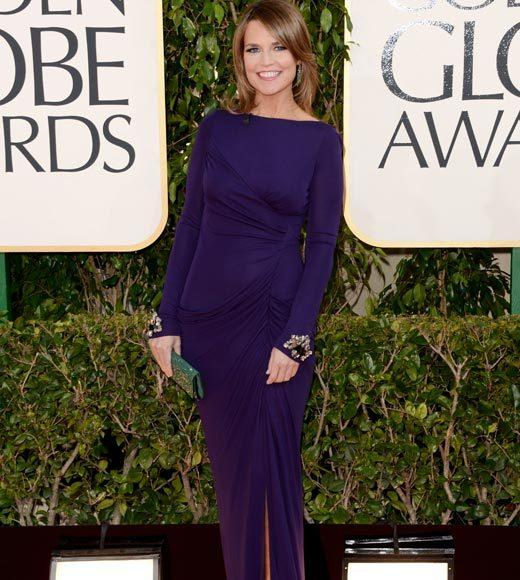 Photos: Golden Globes 2013 red carpet arrivals: Savannah Guthrie