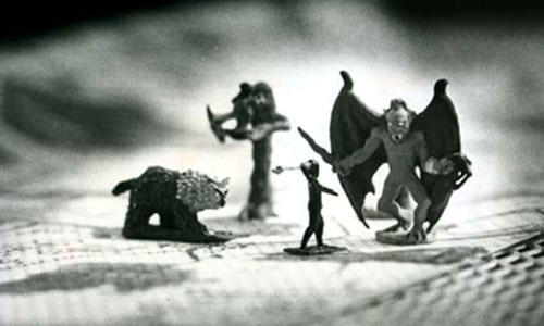 "Figures from the role-playing game ""Dungeons and Dragons"" in 1979. Photo: Los Angeles Times"