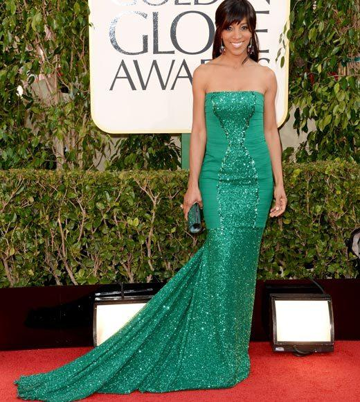 Photos: Golden Globes 2013 red carpet arrivals: Shaun Robinson