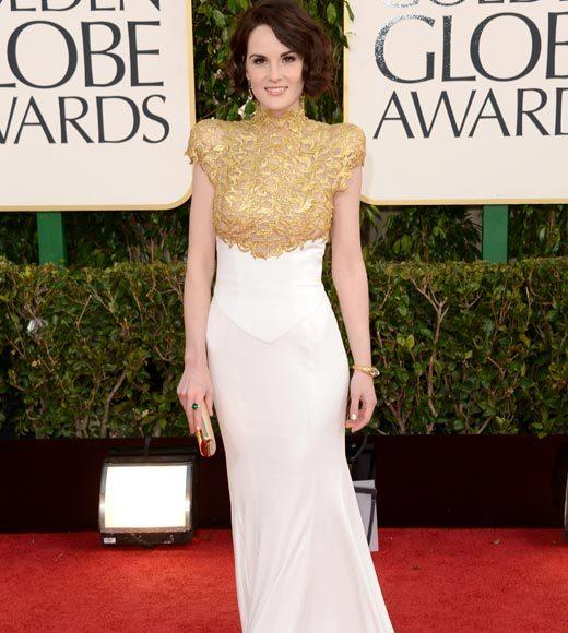 Photos: Golden Globes 2013 red carpet arrivals: Michelle Dockery