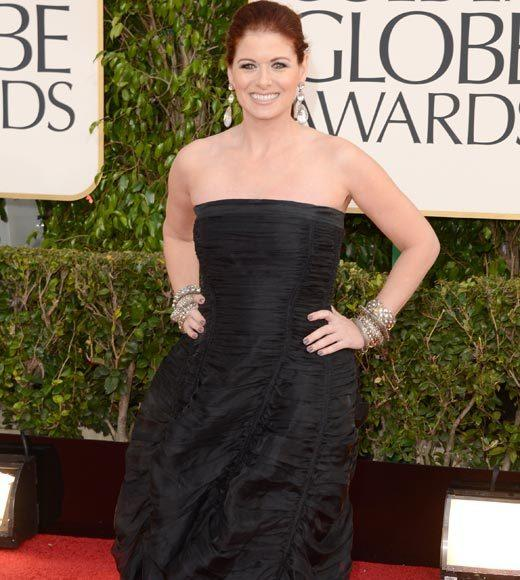 Photos: Golden Globes 2013 red carpet arrivals: Debra Messing