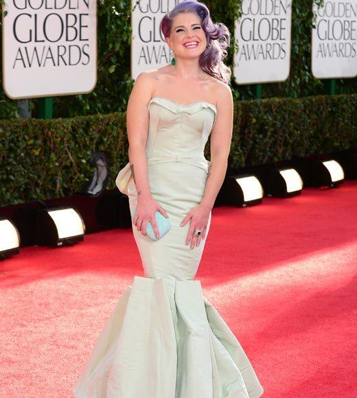 Photos: Golden Globes 2013 red carpet arrivals: Kelly Osbourne