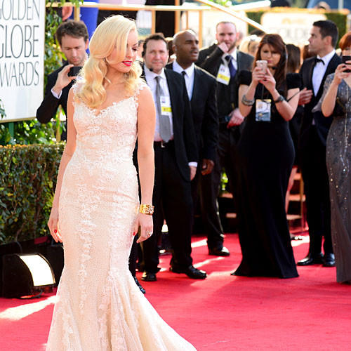 Miss Golden Globe 2013 Francesca Eastwood, daughter of director Clint Eastwood and actress Frances Fisher.