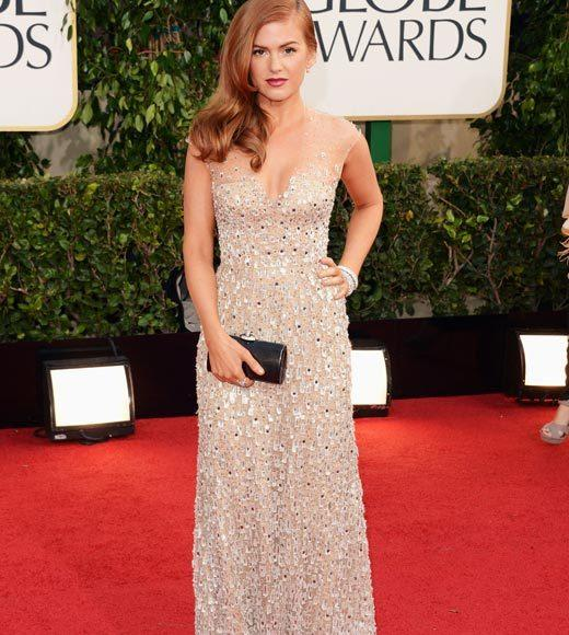 Photos: Golden Globes 2013 red carpet arrivals: Isla Fisher