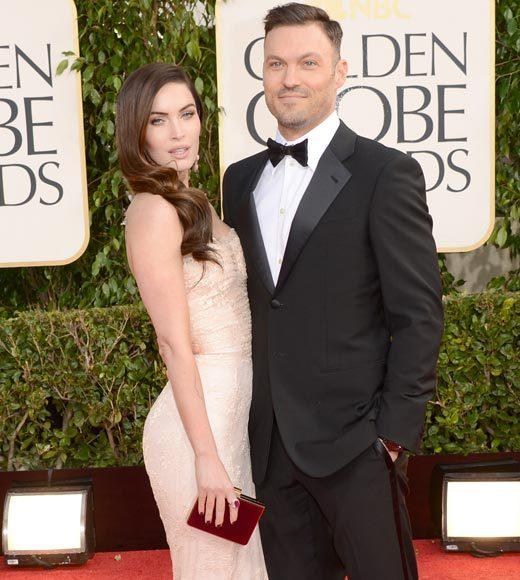 Photos: Golden Globes 2013 red carpet arrivals: Megan Fox and Brian Austin Green