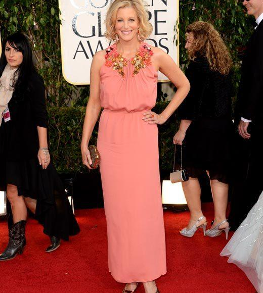 Photos: Golden Globes 2013 red carpet arrivals: Anna Gunn