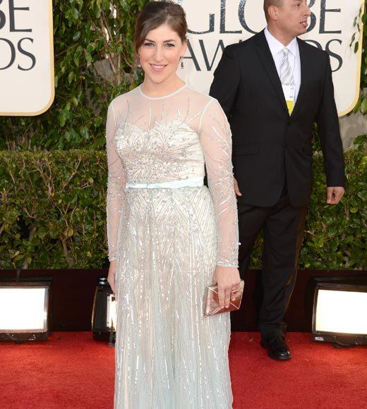 Photos: Golden Globes 2013 red carpet arrivals: Mayim Bialik