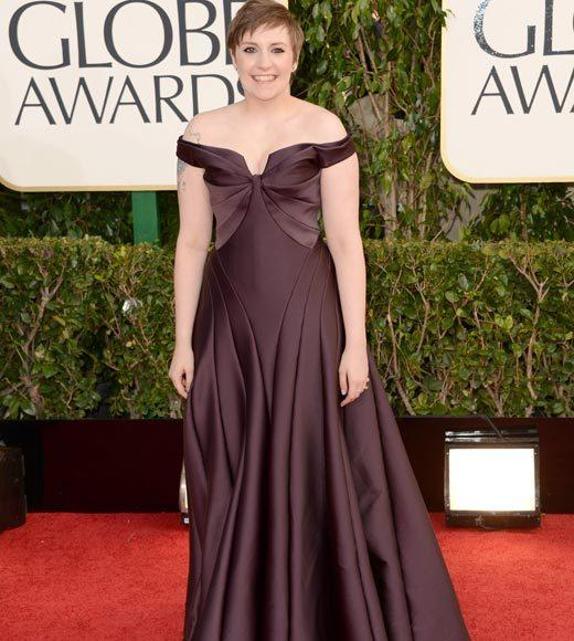 Photos: Golden Globes 2013 red carpet arrivals: Lena Dunham