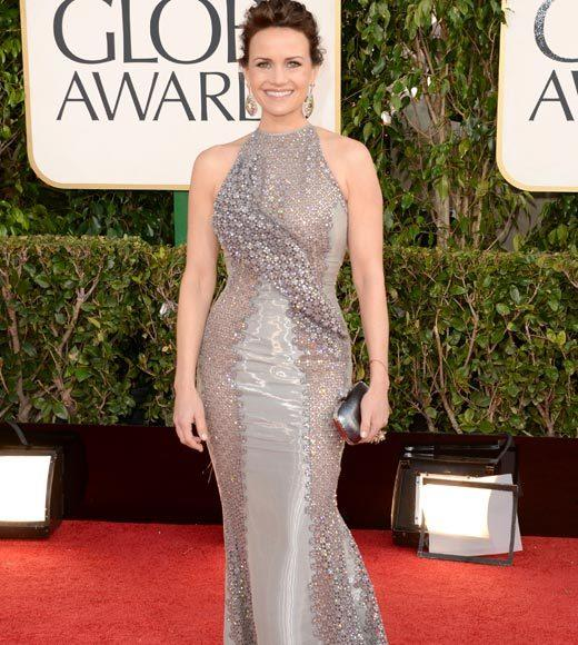 Photos: Golden Globes 2013 red carpet arrivals: Carla Gugino