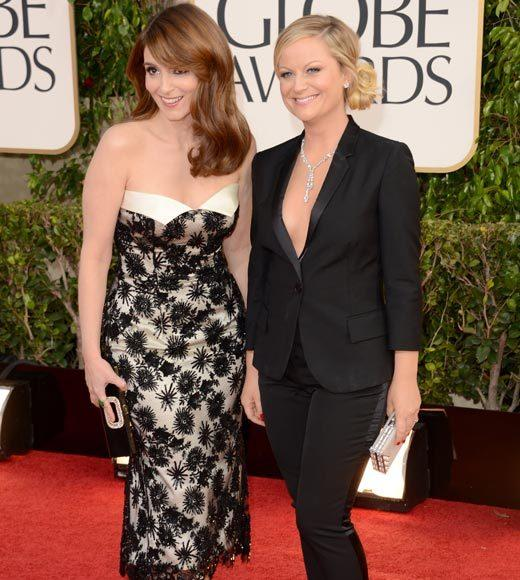 Photos: Golden Globes 2013 red carpet arrivals: Tina Fey and Amy Poehler