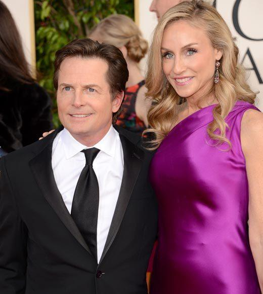 Photos: Golden Globes 2013 red carpet arrivals: Michael J. Fox and Tracy Pollan