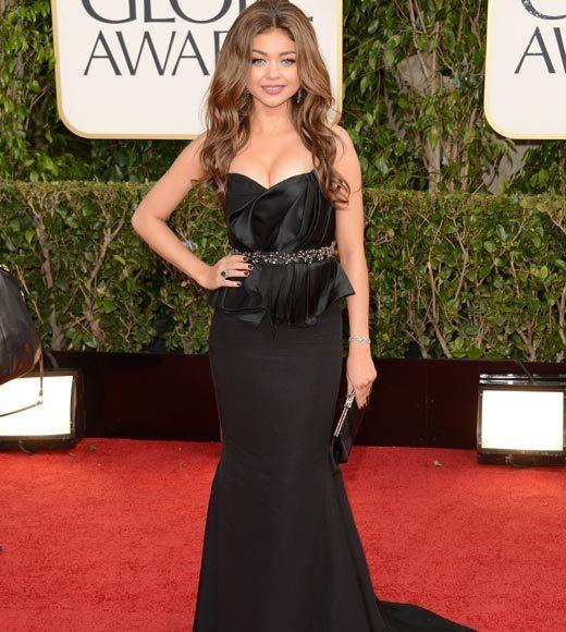 Photos: Golden Globes 2013 red carpet arrivals: Sarah Hyland
