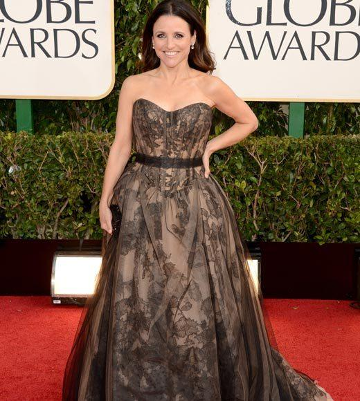 Photos: Golden Globes 2013 red carpet arrivals: Julia Louis-Dreyfus
