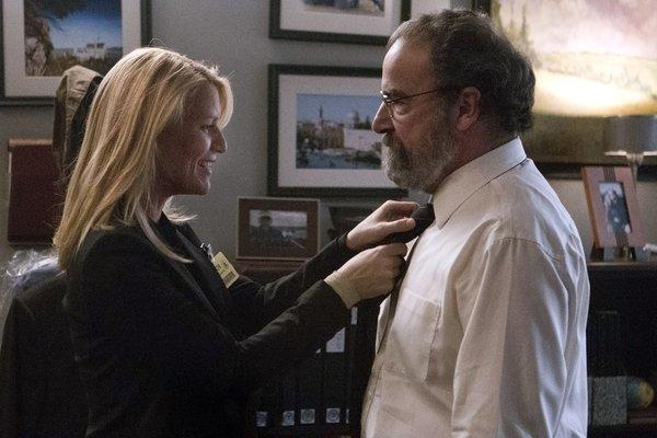 "Claire Danes as Carrie Mathison and Mandy Patinkin as Saul Berenson in Showtime's ""Homeland."""