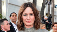 Emily Mortimer had a joust to attend later