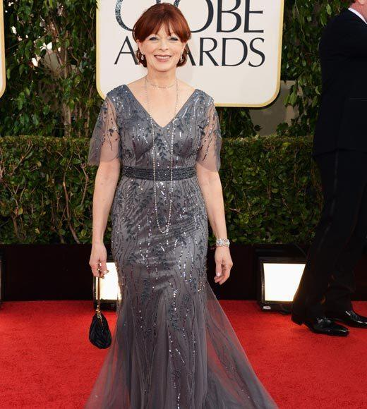 Photos: Golden Globes 2013 red carpet arrivals: Frances Fisher