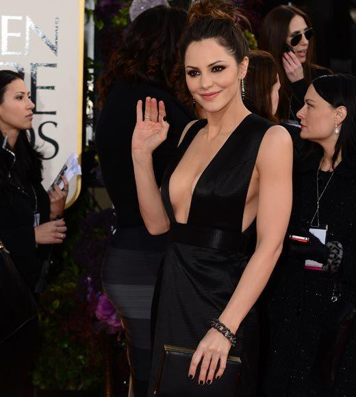 Photos: Golden Globes 2013 red carpet arrivals: Katharine McPhee