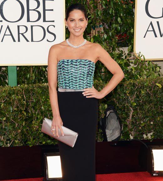 Photos: Golden Globes 2013 red carpet arrivals: Olivia Munn