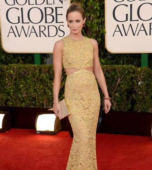 Photos: Golden Globes 2013 red carpet arrivals: Emily Blunt