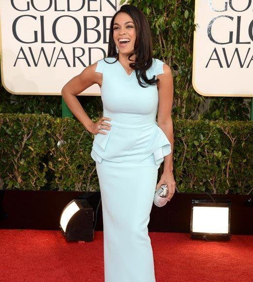 Photos: Golden Globes 2013 red carpet arrivals: Rosario Dawson