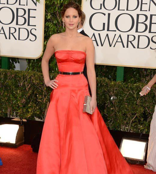 Photos: Golden Globes 2013 red carpet arrivals: Jennifer Lawrence