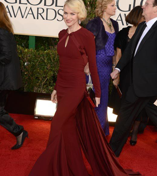 Photos: Golden Globes 2013 red carpet arrivals: Naomi Watts