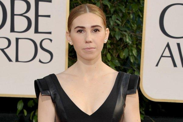 "Zosia Mamet of ""Girls"" on the Golden Globes red carpet Sunday."