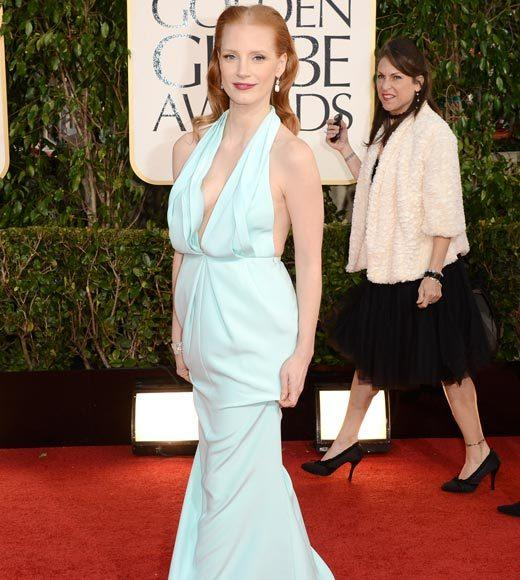 Photos: Golden Globes 2013 red carpet arrivals: Jessica Chastain
