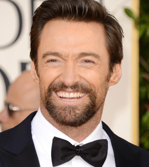 Photos: Golden Globes 2013 red carpet arrivals: Hugh Jackman