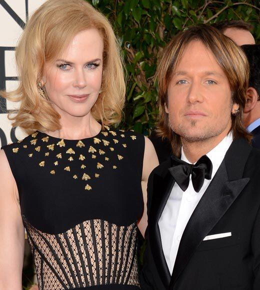 Photos: Golden Globes 2013 red carpet arrivals: Nicole Kidman and Keith Urban