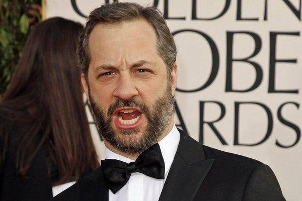 """Girls"" exec producer Judd Apatow on the Golden Globes red carpet Sunday."