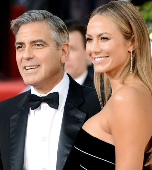 Photos: Golden Globes 2013 red carpet arrivals: George Clooney and Stacy Keibler