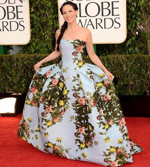 Photos: Golden Globes 2013 red carpet arrivals: Lucy Liu
