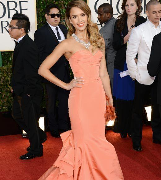 Photos: Golden Globes 2013 red carpet arrivals: Jessica Alba
