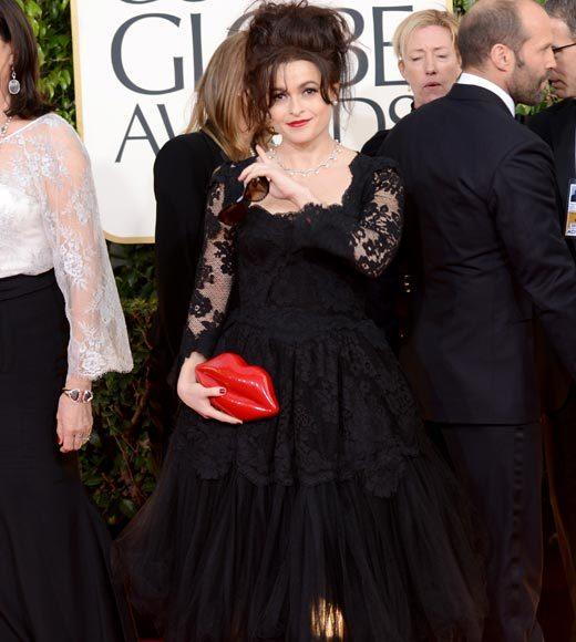 Photos: Golden Globes 2013 red carpet arrivals: Helena Bonham Carter