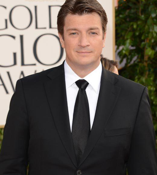 Photos: Golden Globes 2013 red carpet arrivals: Nathan Fillion