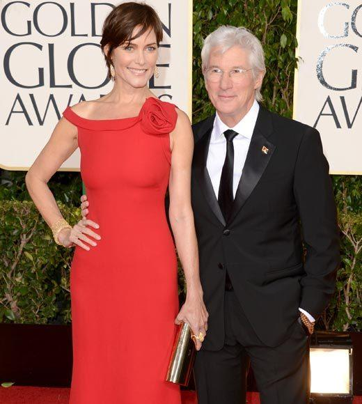 Photos: Golden Globes 2013 red carpet arrivals: Carey Lowell and Richard Gere