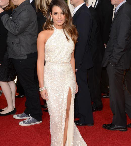 Photos: Golden Globes 2013 red carpet arrivals: Lea Michele