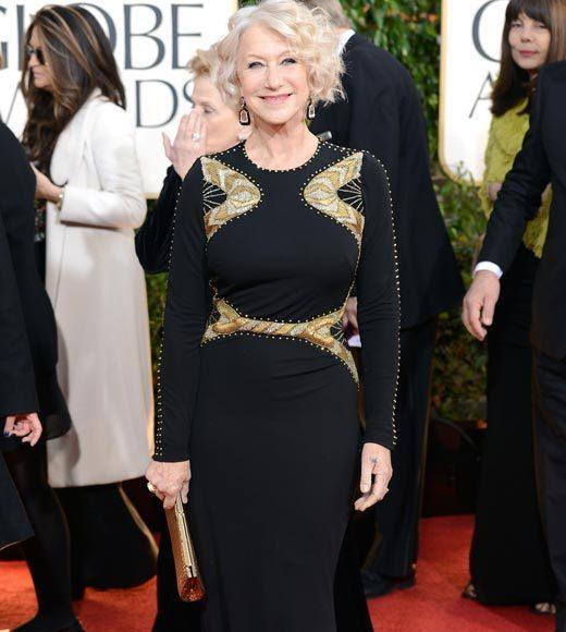 Photos: Golden Globes 2013 red carpet arrivals: Helen Mirren