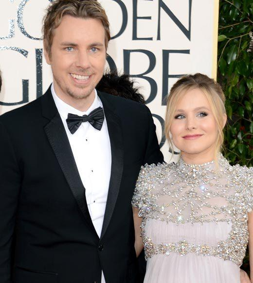 Photos: Golden Globes 2013 red carpet arrivals: Dax Shepard and Kristen Bell