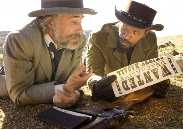 "Christoph Waltz, left, and Jamie Foxx in ""Django Unchained."""