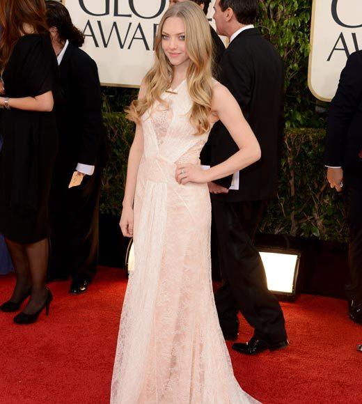 Photos: Golden Globes 2013 red carpet arrivals: Amanda Seyfried