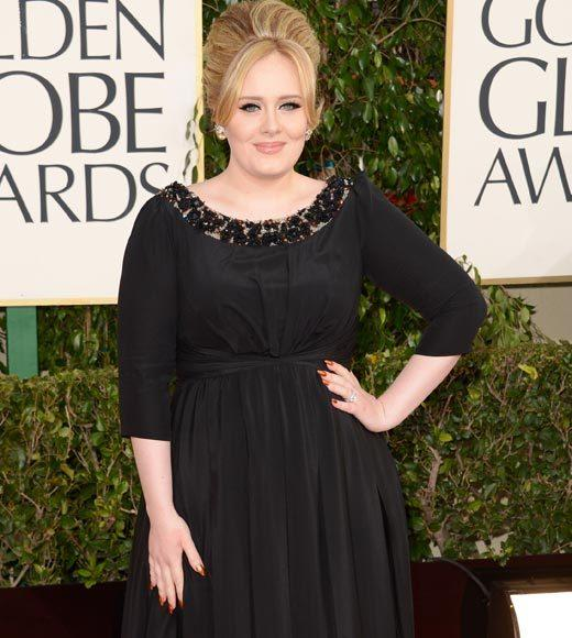 Photos: Golden Globes 2013 red carpet arrivals: Adele
