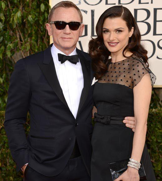 Photos: Golden Globes 2013 red carpet arrivals: Daniel Craig and Rachel Weisz
